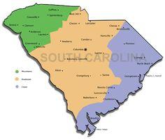 south carolina cities map - Google Search   STATES CITY MAPS ...