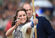 Pin for Later: The Duchess of Cambridge Is Not Too Princess-y to Play Sports Archery