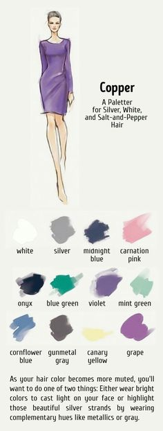 What colors to wear - silver , white , salt and pepper hair Deep Winter Colors, Summer Colors, Silver Grey Hair, White Hair, Gray Hair, Cool Skin Tone, Cool Tones, Soft Summer, 2014 Trends