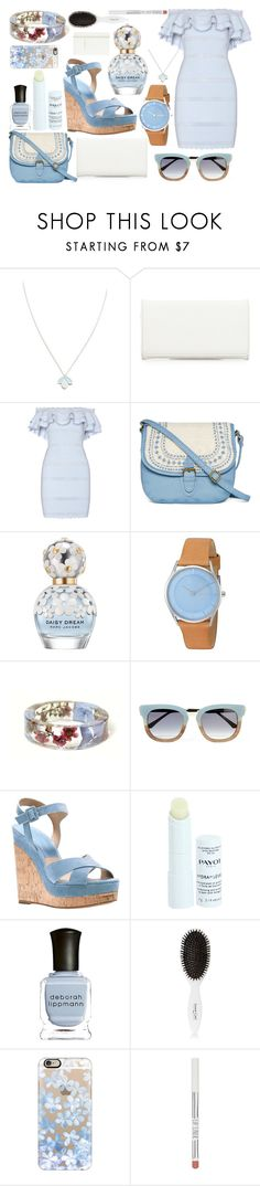 """""""Baby blue summer"""" by meta009 ❤ liked on Polyvore featuring Wolf & Moon, Neiman Marcus, Alexander McQueen, T-shirt & Jeans, Marc Jacobs, Skagen, Thierry Lasry, Michael Kors, Payot and Deborah Lippmann"""