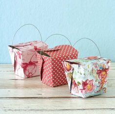 Make your own Gift boxes – Template and Tutorial