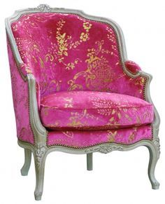 Hot pink upholstery...tres french!