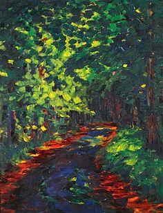 """Emil Nolde 1867 – 1956 """"Der Waldweg"""" www.artexperiencenyc.com"""