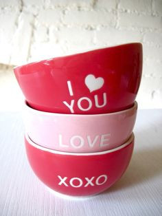 I Love You Angel Red Bowl type A for Valentine's Day by Hideminy