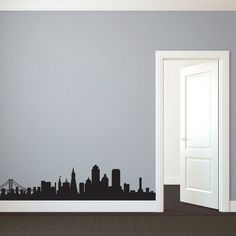 SF Skyline Decal - Would be cool for the empty space above the kitchen cabinets!