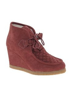 Enlarge F-Troupe Wedge Wallabee Burgundy Ankle Boots