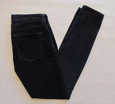 "Gap 1969 Legging Cord Jeans Skinny Stretch Corduroy Pants 26 2 Navy Blue 29"" #GAP #Corduroys"