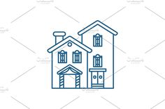 Window Design, Line Icon, Symbols, Letters, Concept, Country, Rural Area, Icons, Letter