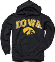 Iowa Hawkeyes Black Perennial II Hooded Sweatshirt