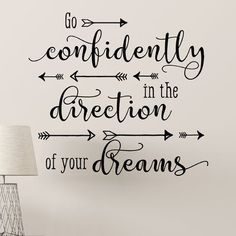 Belvedere Designs LLC Go Confidently Scripty Arrows Wall Quotes™ Decal Calligraphy Quotes Doodles, Brush Lettering Quotes, Doodle Quotes, Hand Lettering Quotes, Calligraphy Letters, How To Caligraphy, Calligraphy Quotes Motivation, Bullet Journal Quotes, Bullet Journal Writing