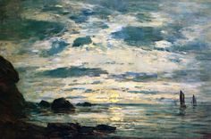 Sunset Over The Sea by Eugène Boudin