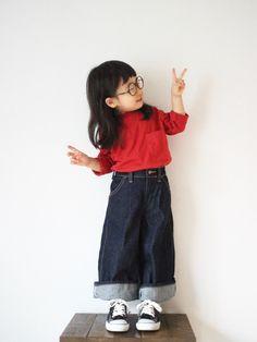 ♡&✌︎ えんじ色のビッグシルエットT♡ 大きなポケットに、ちょこっとハイネックがツボです (⑅˘͈