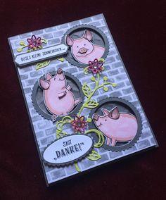 """Stampin Up """"This Little Piggy"""" Heute mussten die kleinen Glücksschweinchen von Stampin Up daran glauben. Ich liebe dieses Set. Schaut doch einfach mal auf meiner Seite bei Facebook vorbei, oder schreibt mir eine Mail. Melanie@Stempelengel.de Euer Stempelengel"""