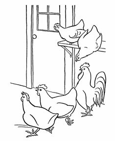 Animal coloring pages Chicken Coloring Animals Bugs
