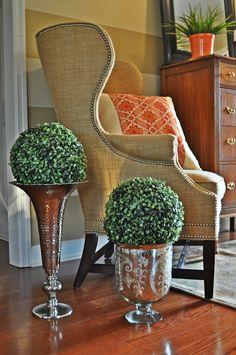 Foyer, Stripes, chair, chest
