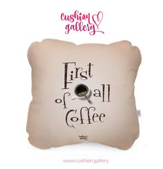 Pillow Talk :) First of all coffee!
