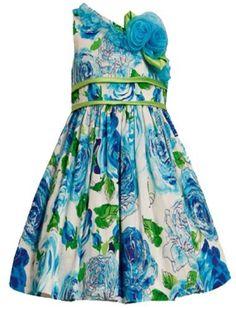 Size-4, Blue, BNJ-6180R, Glitter Floral Print Asymmetric One-Shoulder Dress, Bonnie Jean Little Girls Special Occasion Flower Girl Party Dress Bonnie Jean,http://www.amazon.com/dp/B00AWW0Q14/ref=cm_sw_r_pi_dp_B6worb09YB5NNAFE