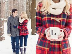 Romantic Snowy Engagement Session. I would love to take engagement photos in Alaska, shoot maybe even the whole wedding in winter :)
