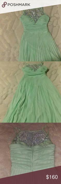 Mint colored Prom Dress B. Darlin prom dress B. Darlin Dresses Prom