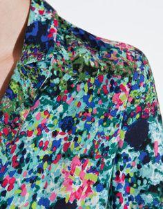 Printed Blazer From Zara