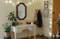 Entry way with vintage desk