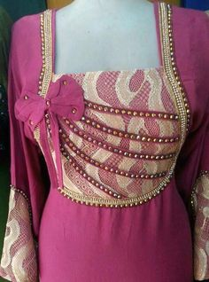 Neck pattern Chudidhar Neck Designs, Neck Designs For Suits, Neckline Designs, Dress Neck Designs, Blouse Designs, Salwar Suit Neck Designs, Kurta Designs Women, Frock Patterns, Dress Sewing Patterns