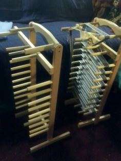 Floor inkle looms by TheFunkyGypsy on Etsy