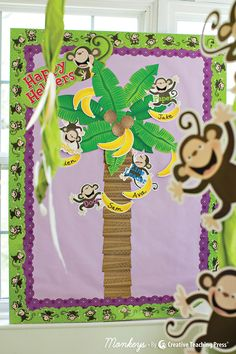 Looking for a classroom theme that's FUN? Check out the Monkeys decor line by CTP!