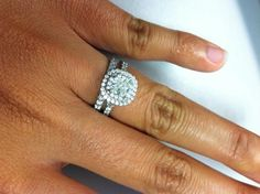 Soleste engagement ring with Novo band