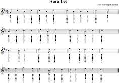 Aura Lee Sheet Music for Tin Whistle