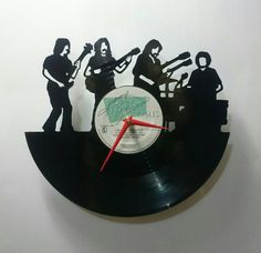 Eagles Hotel California Vinyl Record Clock by High5Design on Etsy