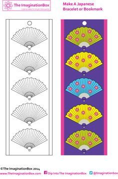 This free 'Japanese Fan printable' doubles as a bracelet and a bookmark after being lovingly colored in!