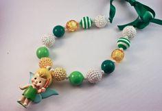 Chunky Gumball Necklace - Tinkerbell - Disney Princess