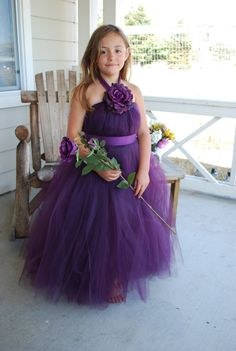 Flower girl dress, only in royal blue instead of purple