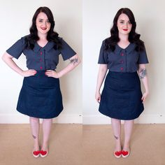 Tilly and the Buttons - Mimi Blouse & Delphine Skirt - The Crafty Pinup