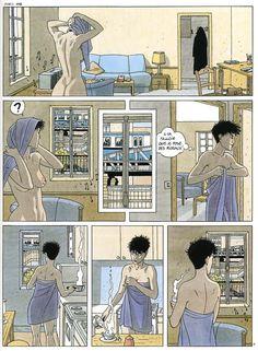 Va falloir que je pense à placer des rideaux!              Le Cahier bleu d'André Juillard