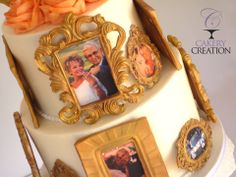 Picture frames cake - * Anniversary Cake all edible picture frames and images.