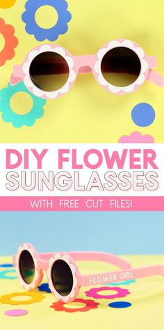 diy custom sunglasses with free cut file - such a cute way to personalize sunnies! : diy custom sunglasses with free cut file - such a cute way to personalize sunnies! Cool Diy Projects, Vinyl Projects, Craft Projects, Bee Crafts, Vinyl Crafts, Preschool Crafts, Easy Crafts, Flower Sunglasses, Cricut Tutorials