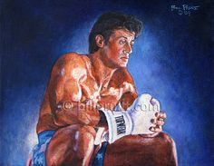 Sylvester Stallone Rocky Balboa Rocky 4 art print 12x16 signed and dated Bill Pruitt #RockyBalboa #Rocky4