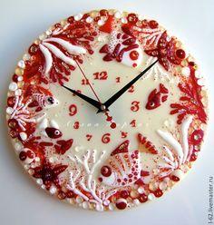 Фьюзинг часы Лилии Горбач Fused Glass Art, Stained Glass, Resin Art, Flute, Handmade, Crafts, Decoration, Glass Ornaments, Hipster Stuff