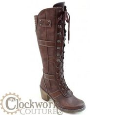 punk in steampunk boots