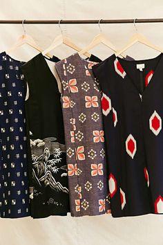 Urban Renewal Recycled Sleeveless Kimono Dress - Urban Outfitters