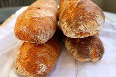 Wandering Bread: Pesto Sourdough Baguettes - Garlic Bread on Steroids