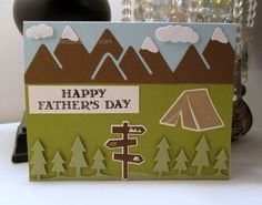 Today I am sharing the Father's Day card that I made for my amazing Papa! Happy Fathers Day, I Card, Stampin Up, About Me Blog, Thankful, Outdoors, Adventure, Projects, Happy Valentines Day Dad