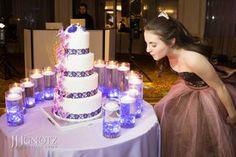 LED Candle Lighting Display Sweet 16 LED Candle Lighting Display with Lavender Chips, LED Lights & Floating Candles