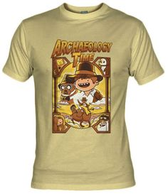 Camiseta Archeology Time por Fuacka - Indiana Jones - Camisetas Cine - Fanisetas - Es hora de