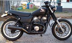 Gorgeous restored Honda VT500 Street Tracker. My absolute dream bike.