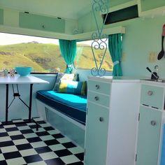 retro caravan interior design - Google Search More