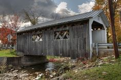 This is one of the covered bridges my great great uncles built in Northern Vermont. This is one of the covered bridges my great great uncles built in Northern Vermont. Monet, Old Bridges, Old Barns, Old Buildings, Covered Bridges, New Hampshire, Vermont, New England, Places To See