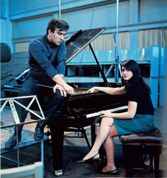Claudio Abbado and Martha Argerich. Recording session of piano concertos by Ravel and Prokofiev. Berlin, 1967 http://open.spotify.com/track/6q2AuouuApmcGw0JvhjWO8